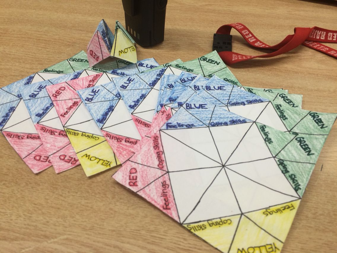 Zones Of Regulation Cootie Catcher Great Program To Do