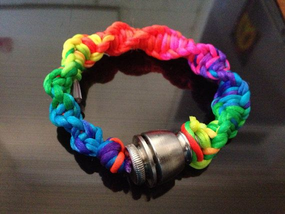 Pipe Bracelet  Spiral Rainbow Custom Sizes Available by Tokables, $15.00