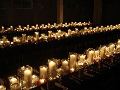 Centerpieces - Candles only! | WEDDING - Curacao | Candle