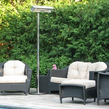 Strata Stainless Infrared Patio Heater. FrontGate.com