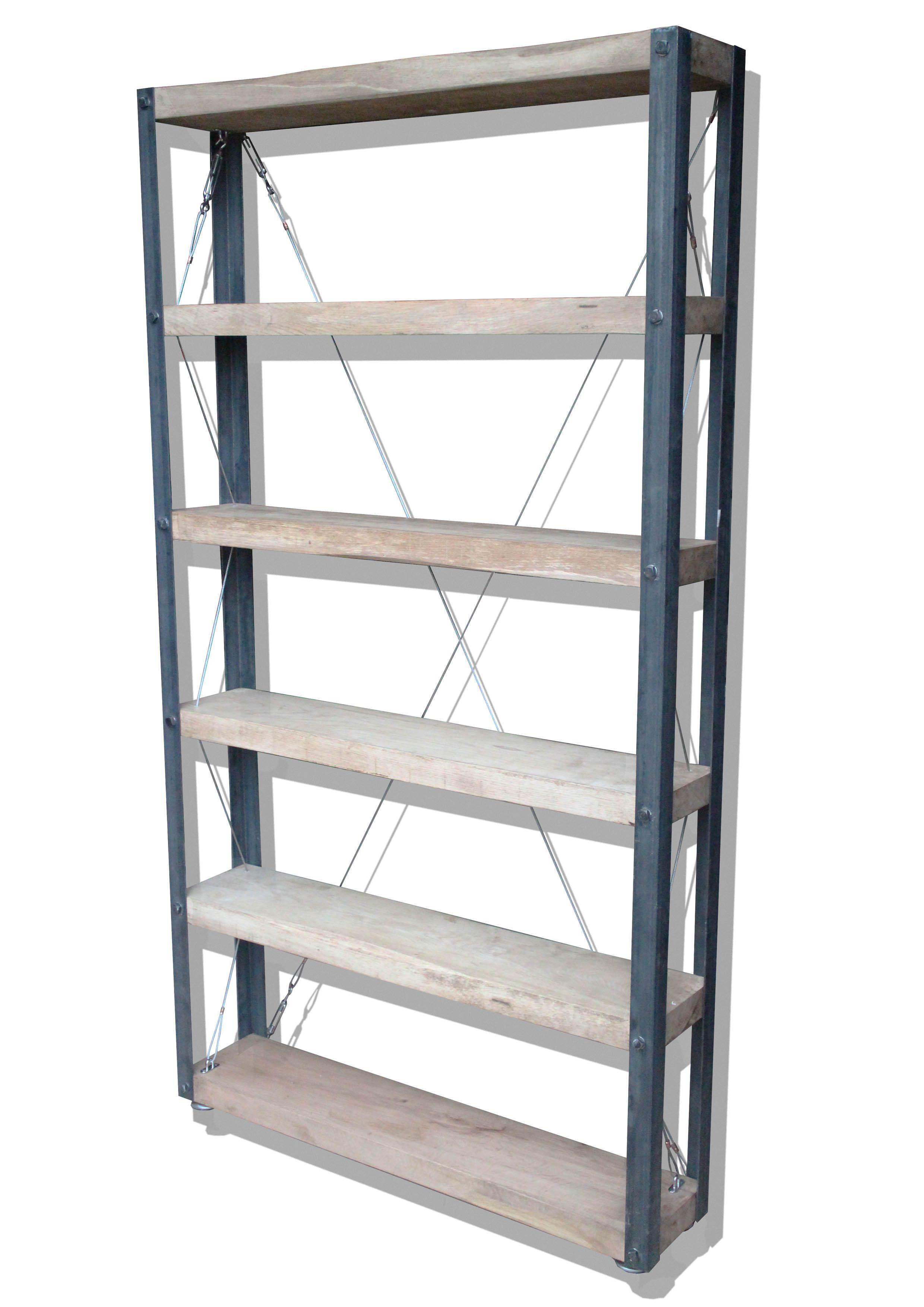 Classic' INDUSTRIAL Bookcase [180cm X 100cm] | Industrial, Coach