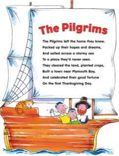 Pilgrims Poem | Printable Charts and Signs, Texts