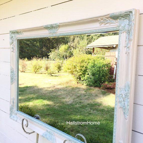 Decorative Shabby Chic Nursery Mirror Large Bathroom Mirror Vanity ...