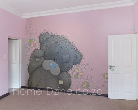 Room · Home Dzine   Wall Mural Painting Technique · Little Girl ...