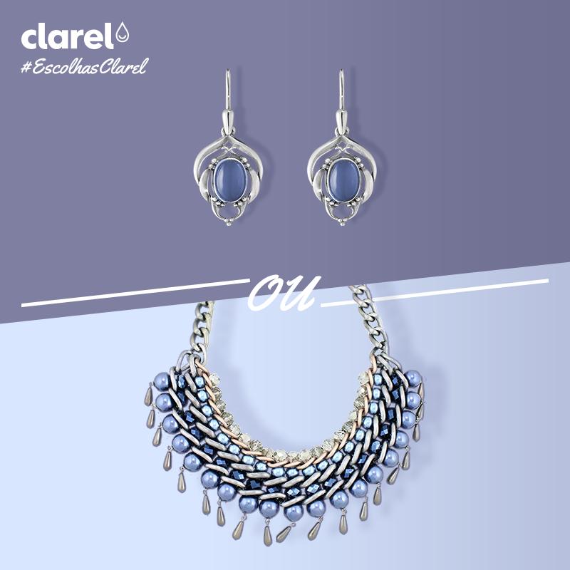 #EscolhasClarel Qual o seu acessório preferido: brincos ou colar?