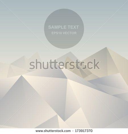 Abstract Background Vector Abstract Mountain Vector Polygon