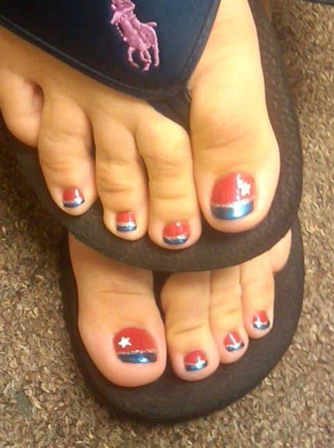 patriotic french ped - Nail Art Gallery | nail art | Pinterest ...