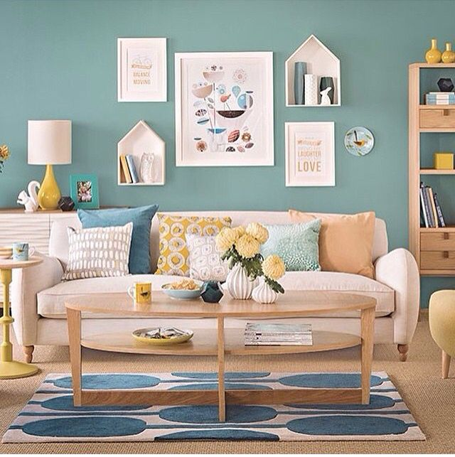 A Light Bright And Fresh Blue Living Room Colour Scheme Thats Perfect For Spring