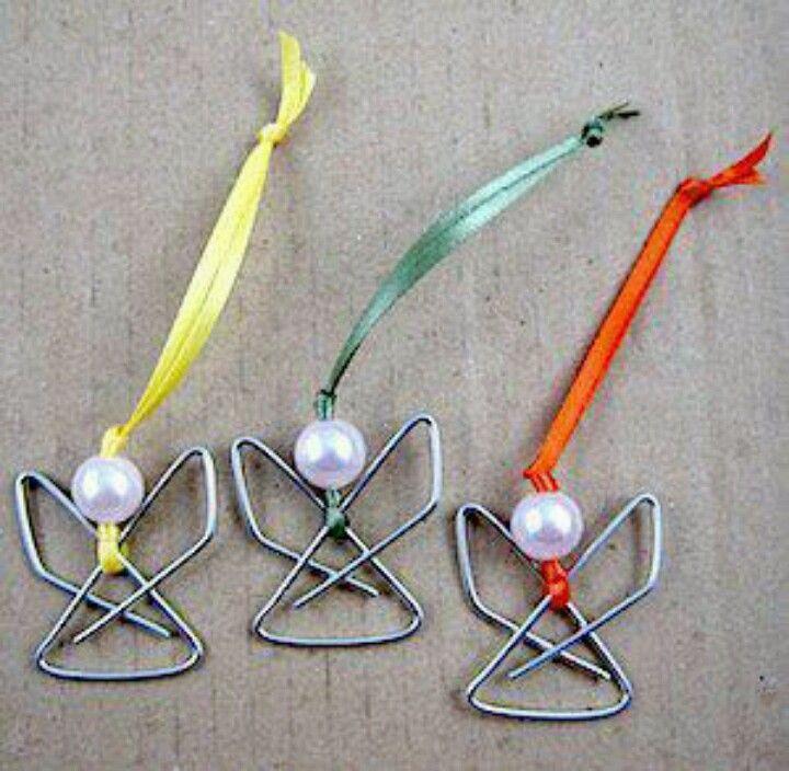 ngelitos con clip para el arbol de navidad