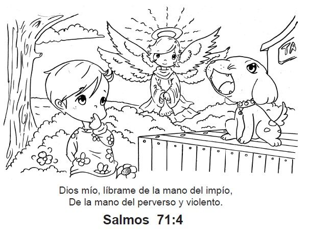Dibujos Para Colorear Pasajes Biblicos Imagui Church Niños