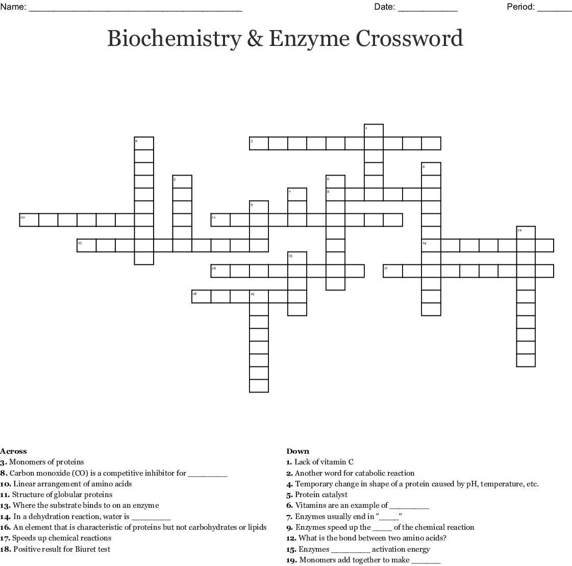 Biology Crossword Puzzle Answer Key - How To Do This