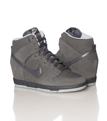 447deeca0fb NIKE WOMENS DUNK SKY HI ESSENTIAL WEDGE SNEAKER Grey