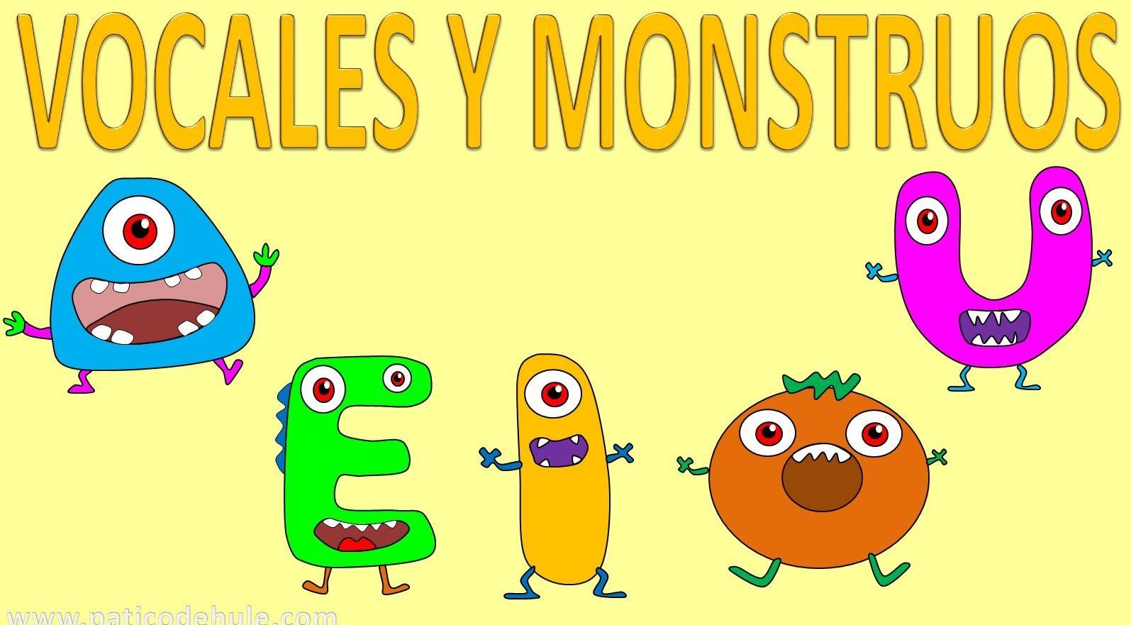 Vocales para niños en español - AEIOU - Vocales con monstruos ...