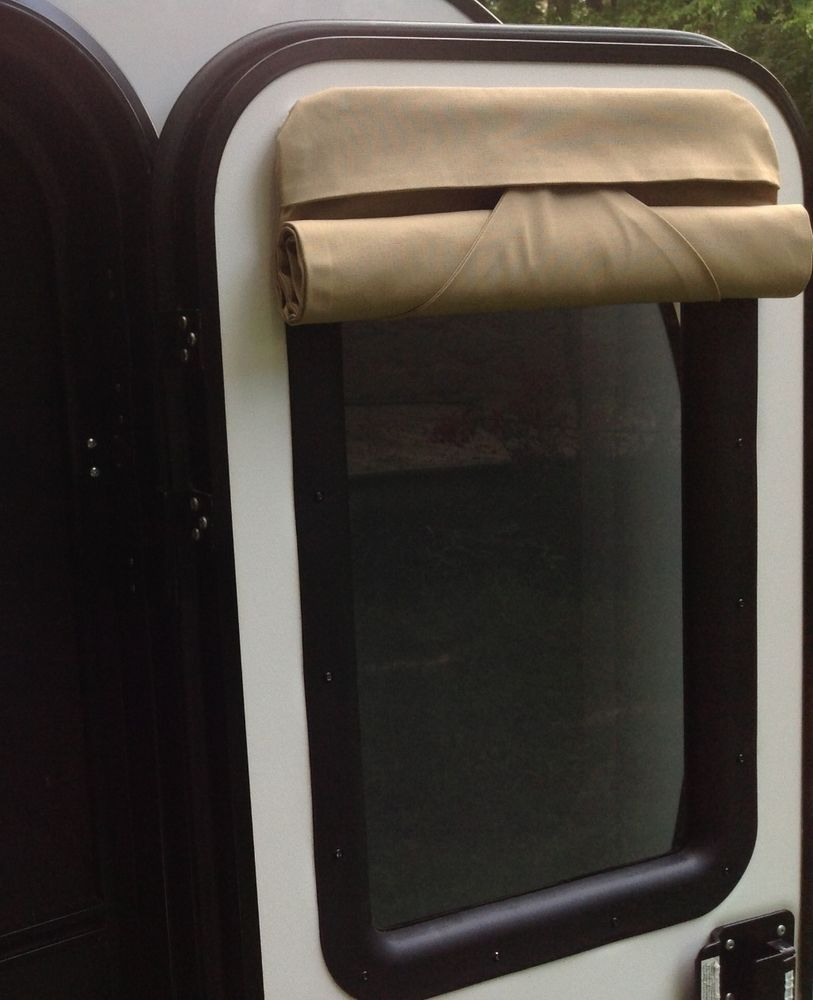 16 X 24 Camper Door Window Shade Blind Rv Teardrop Camper Trailer Khaki In Ebay Motors Parts Accessori Teardrop Camper Trailer Window Shades Camper Trailers