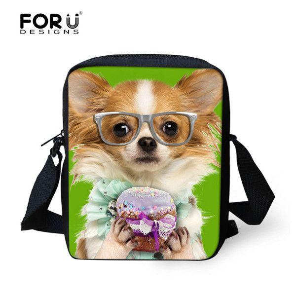 Kawaii Pet Dog Kids School Bags Zoo Animal Small Shoulder Book Bag ...