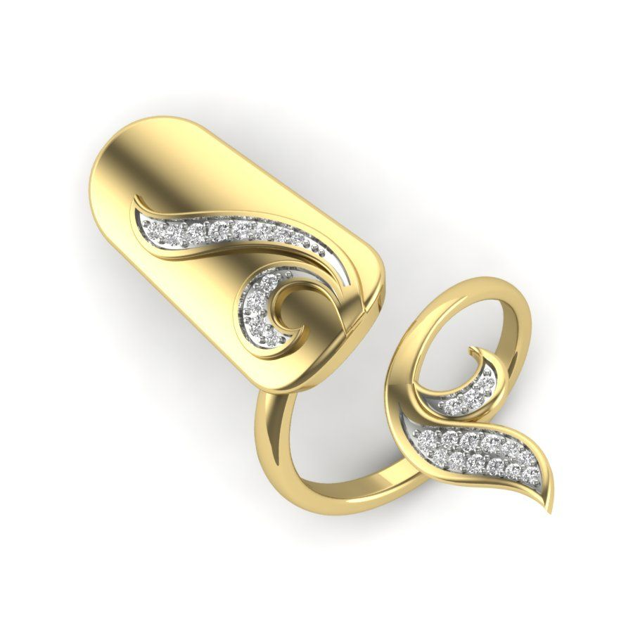 The Junsina Nail Ring With Images Unique Diamond Rings