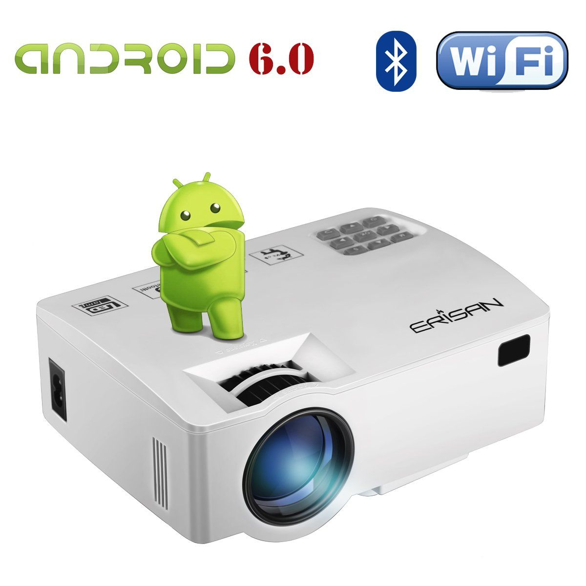 Erisan Android 60 Projectorwarranty Included Built In Wifi Worlds Smallest Hf Receiverquot Kn0ck Integrated Rtlsdr Upconverter Bluetooth Mini Smart
