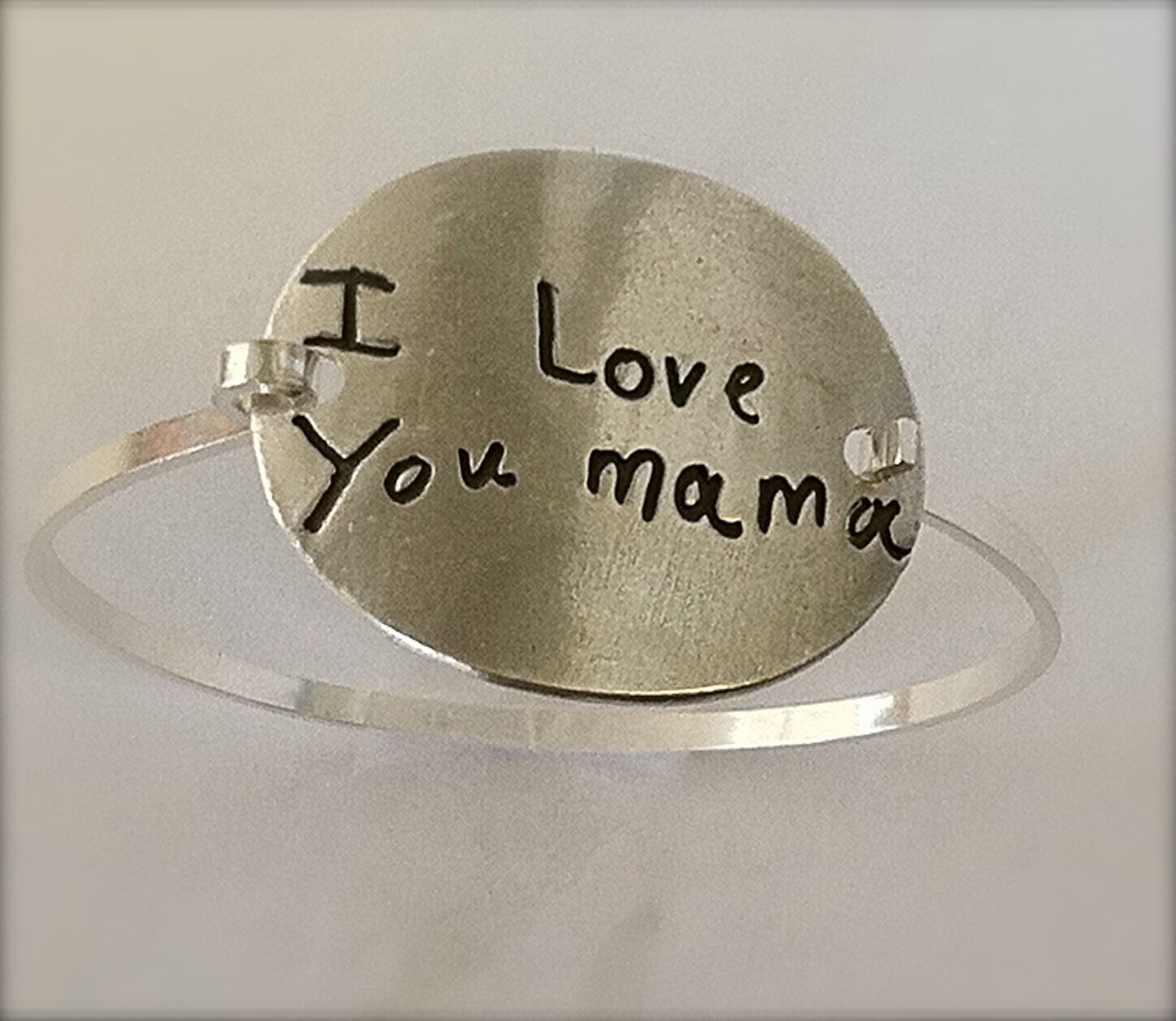 Your Child S Actual Writing Silver Message Bracelet Tension