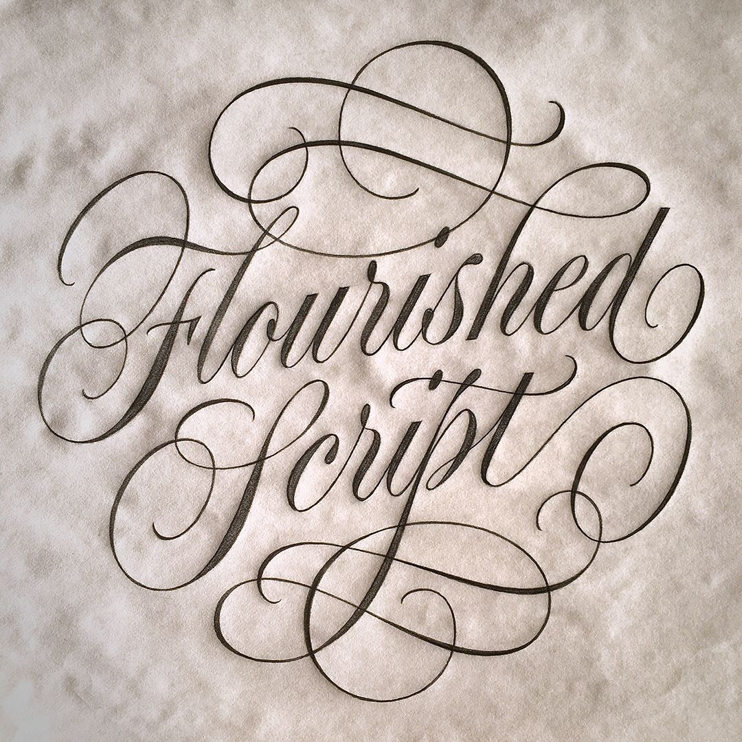 You Re Amazing Script: Typelettering Join Me For A Flourished Script Workshop At