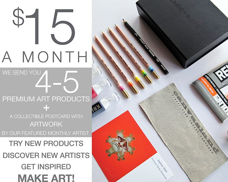 art subscription box pigment and palette subscription 15 a month for 31288
