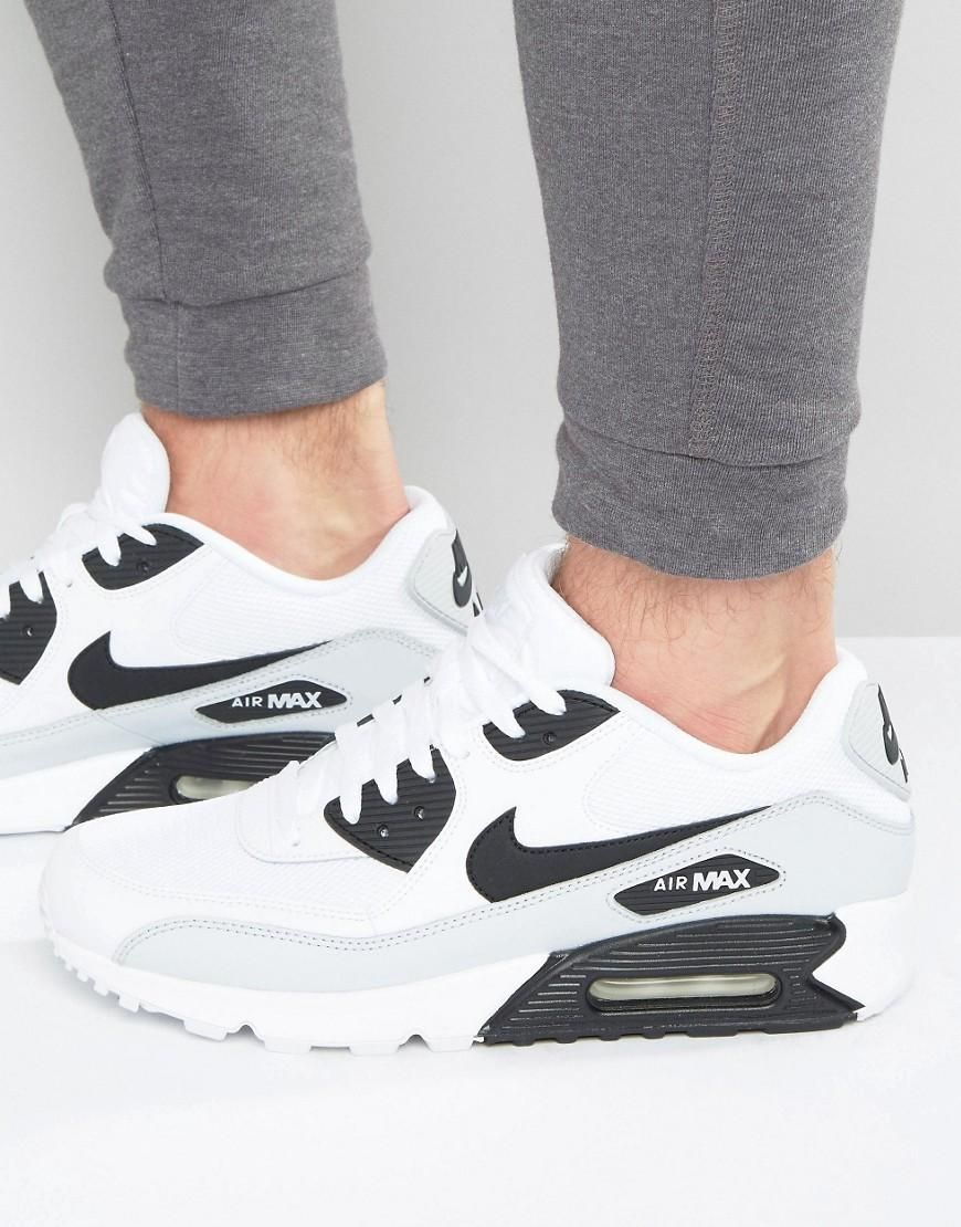 new styles 08f6a c29c3 Nike | Nike Air Max 90 Essential Trainers In White 537384 ...