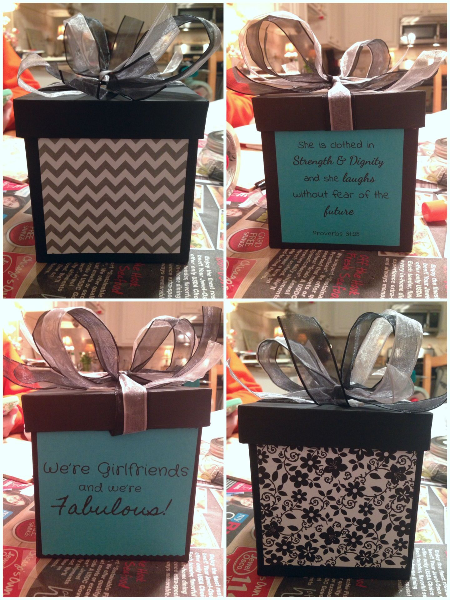 Diy gift box i made for my friends 18th birthday bff