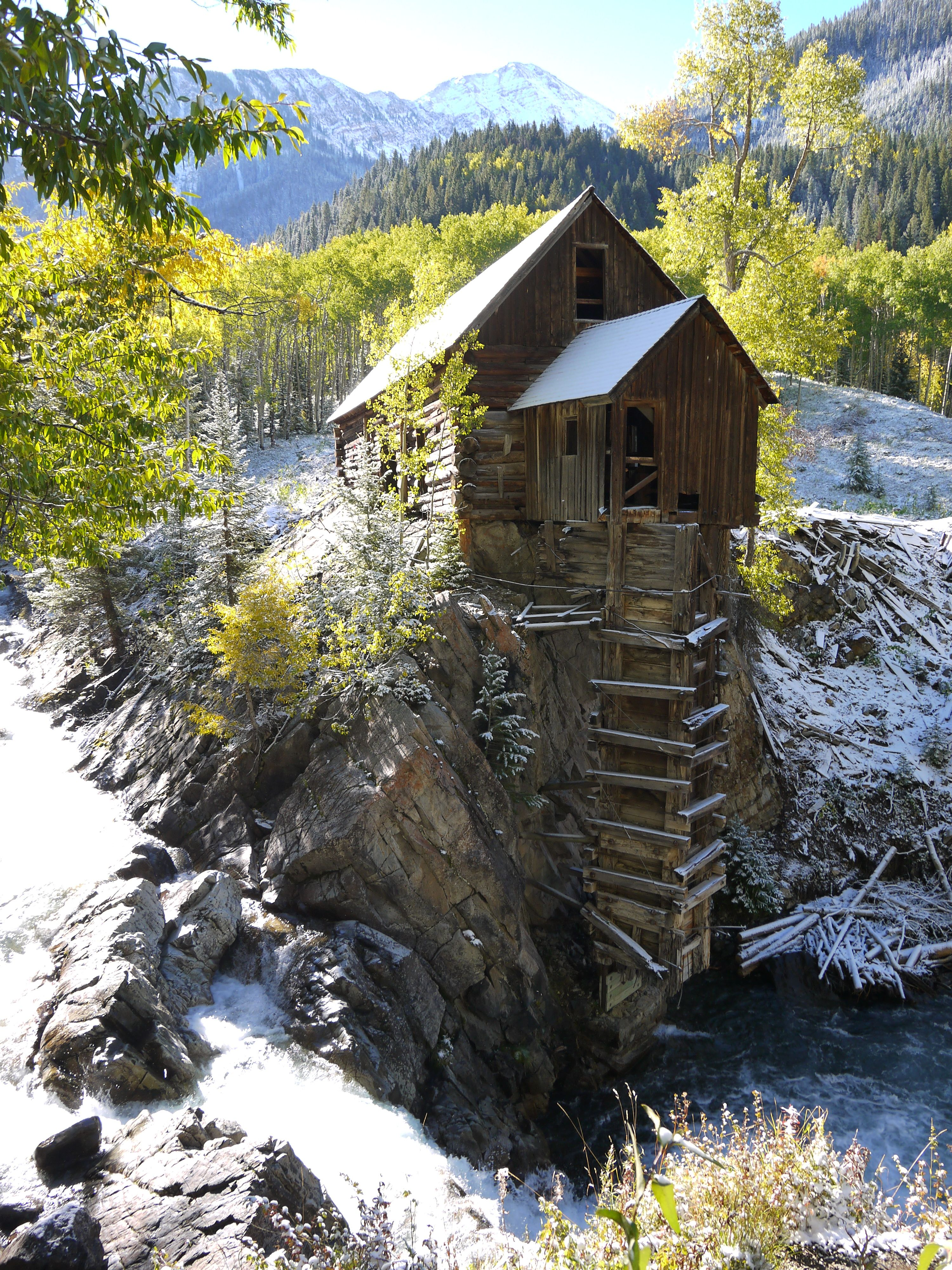 Crystal Mill On The Crystal River In Marble Colorado Near