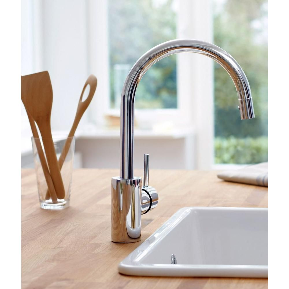 grohe concetto single handle pull down