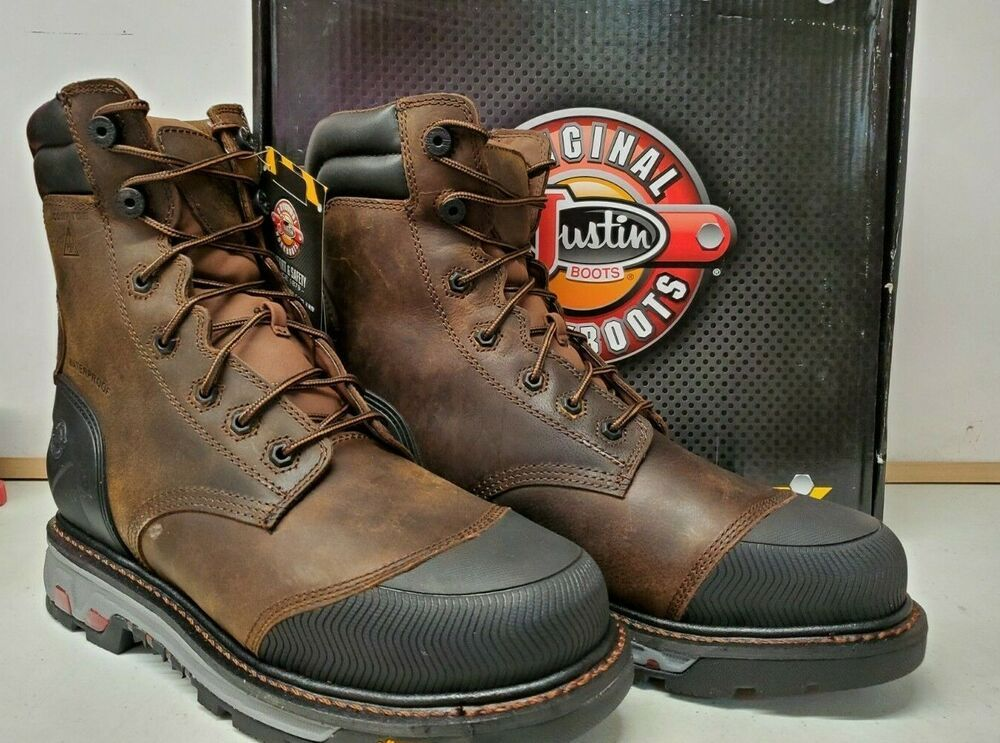 ccb7fc2f15a eBay Sponsored) Justin Work BROWN Boots Mens 600GR Insulated WARHAWK ...