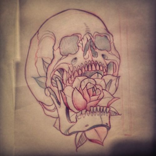 Family Tattoo Ideas Buscar Con Google: Neo Traditional Rose Sketch - Buscar Con Google