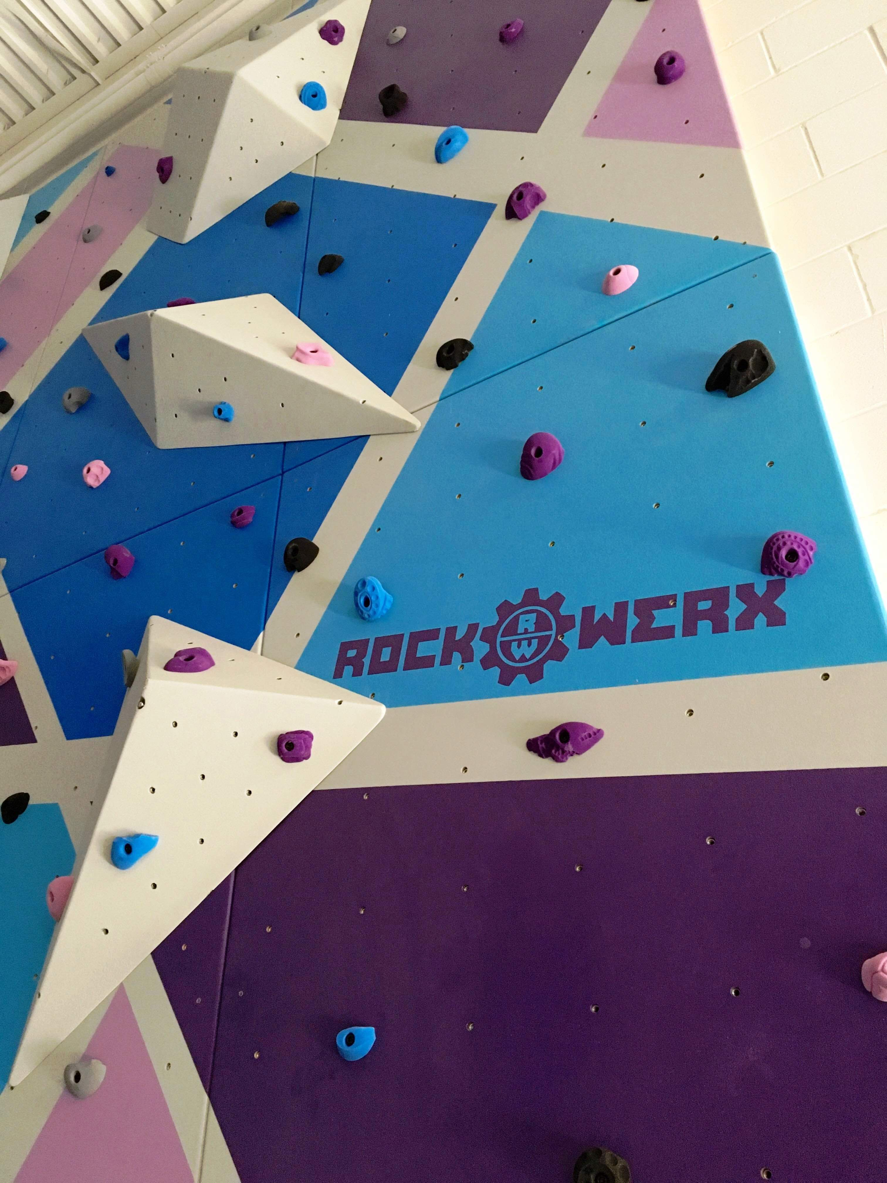 Rockwerx Gym Rock Lite Modular Panels Altitude Fitness In Tampa Fl Climbstronger Climbing Custom Rock Climbing Wall Rock Climbing Custom