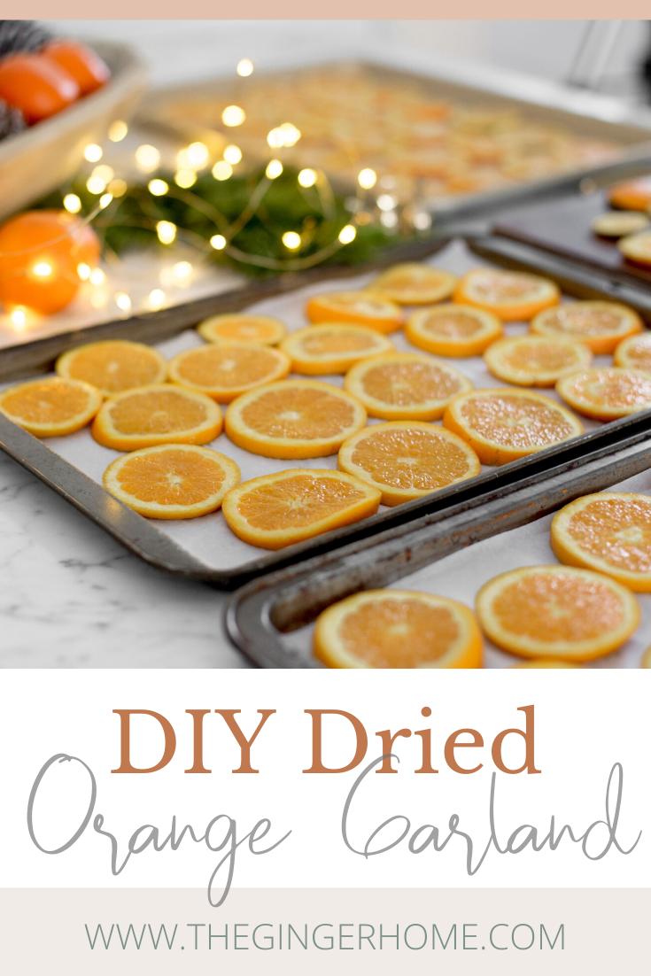 How to Make a Dried Orange Garland