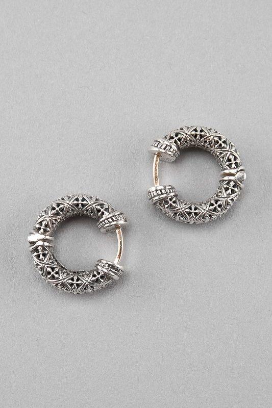 Konstantino Sterling Silver Hoop Earrings Sterling Silver Hoop