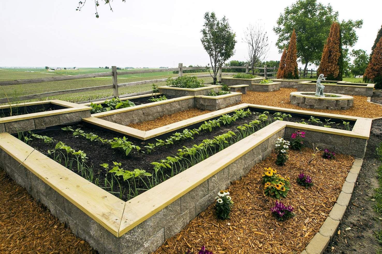 Atkins home garden easy to access | Cinder block garden ...