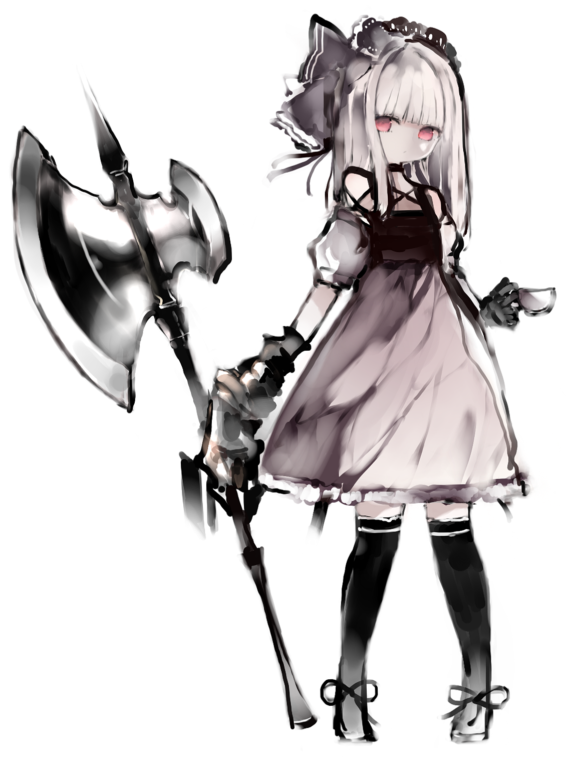 Gothic 斧 ゴシックアニメ, アニメの女の子, イラスト