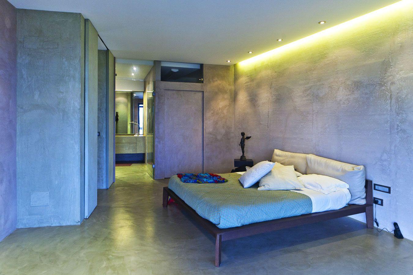 #doriarchitetti #letto #bed #testata #bedroom  #luce #light #led #lucefredda #controsoffitto #resina #coloripastello