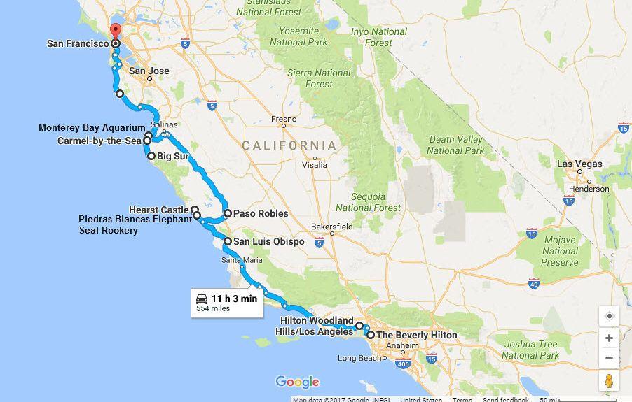 Highway 1 California Map Historic Highway 1 – California Family Road Trip | California road