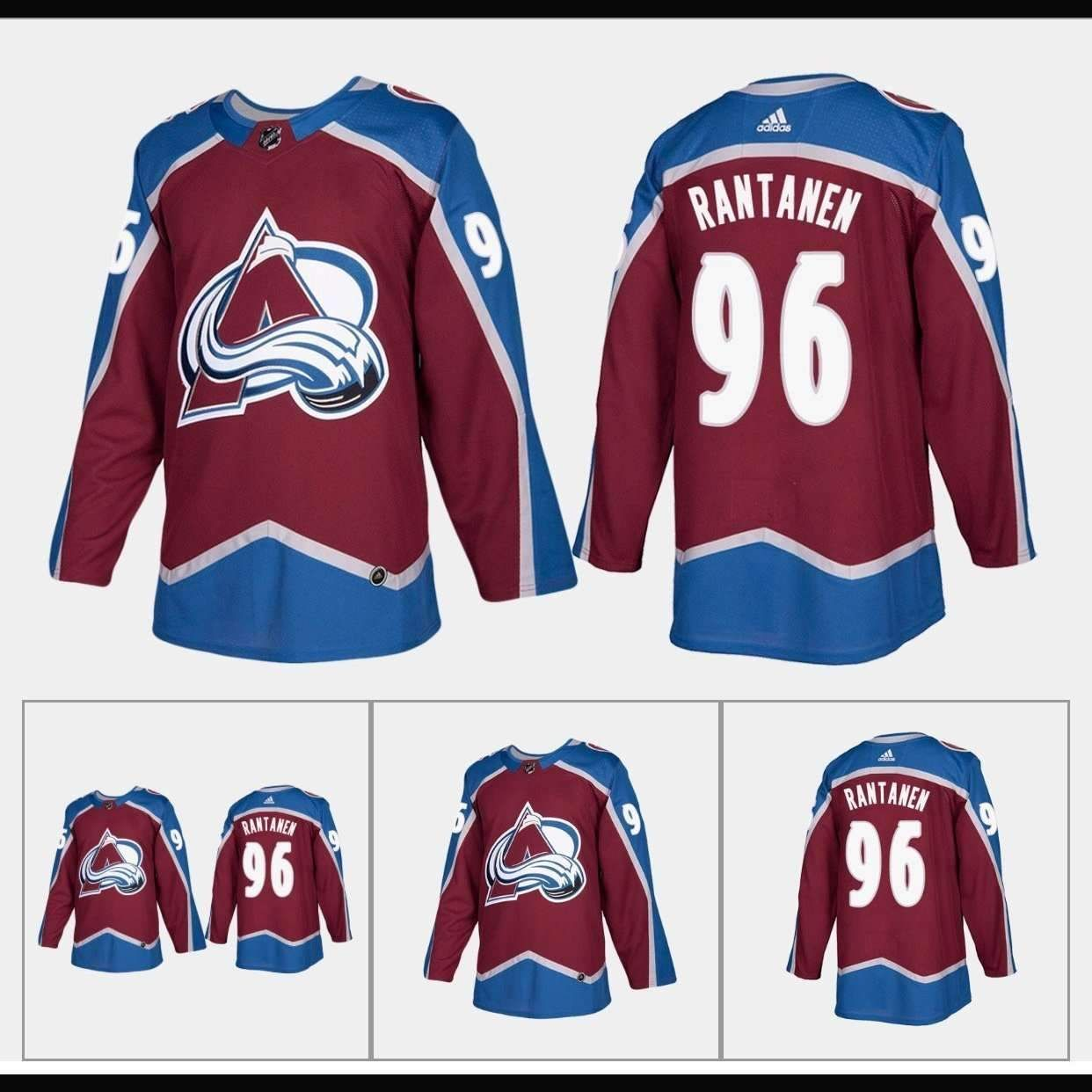 free shipping d8b24 62810 Colorado Avalanche Premier Adidas NHL Home - Road & Alt ...
