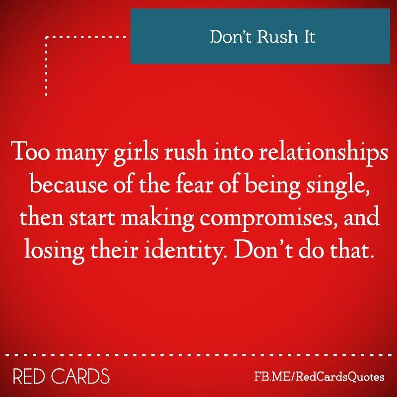 Dont rush it