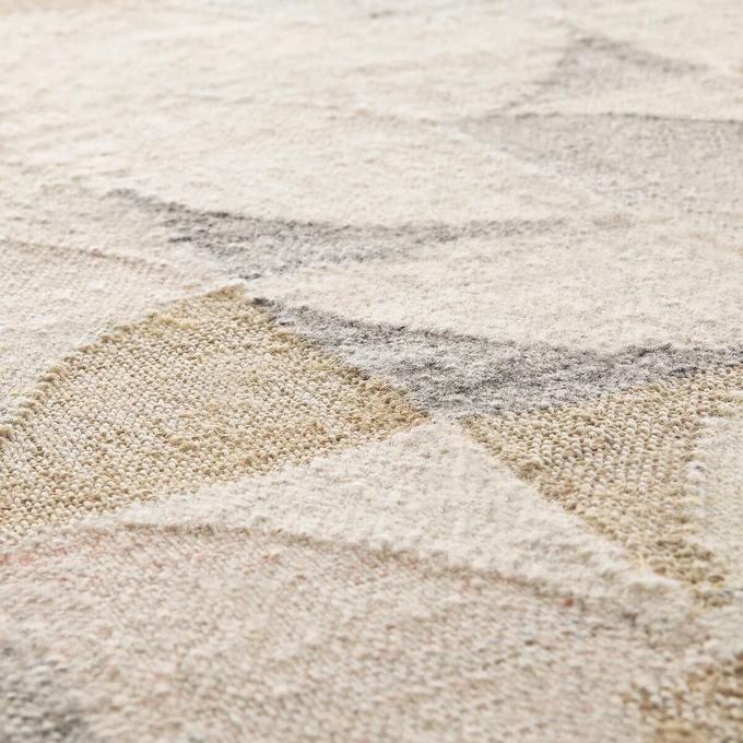 tapis laine et coton couleurs pastel
