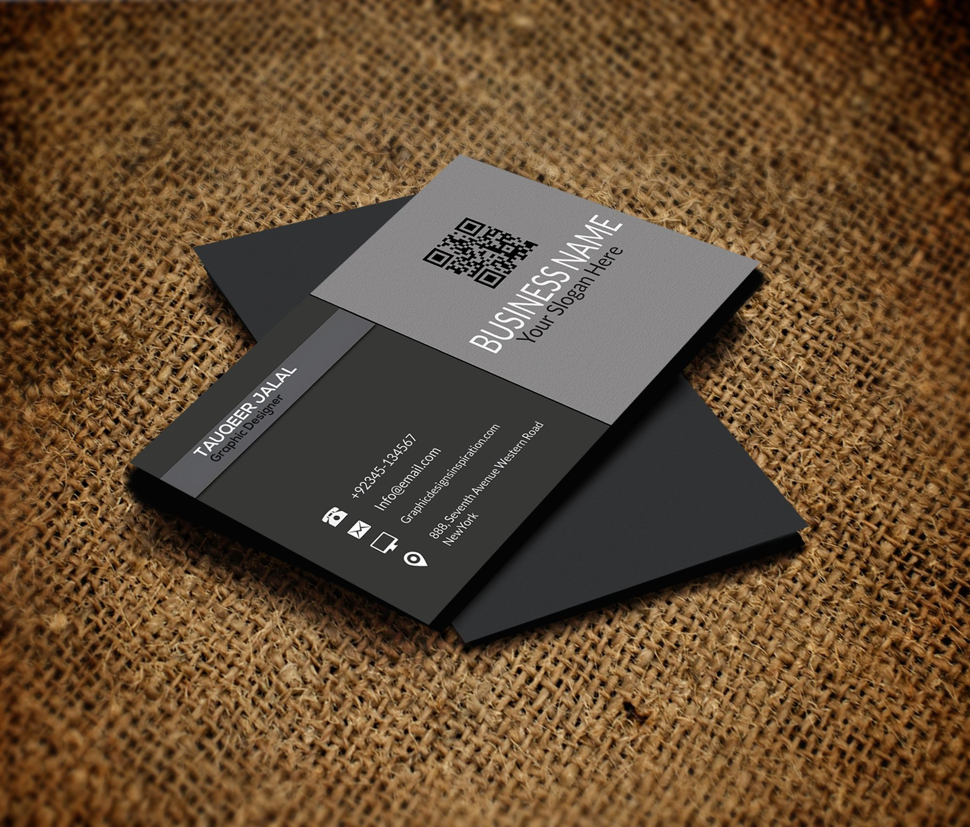 latest business card styles – bluish card design
