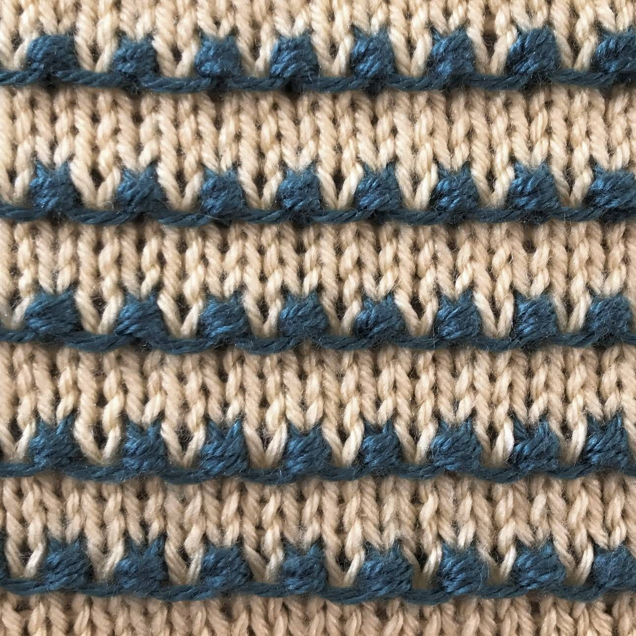 The Tiny Bobbles Stitch II is a multi-color version of the ...
