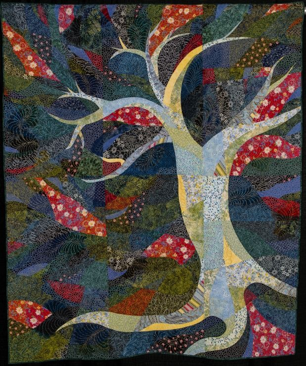 Tree #1 by Angela Welch.  NQA 2014 Quilt Show