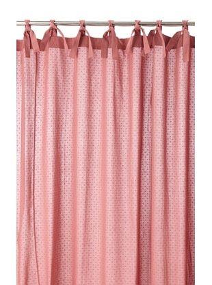 55 OFF Coyuchi Swiss Dot Shower Curtain Dusty Rose