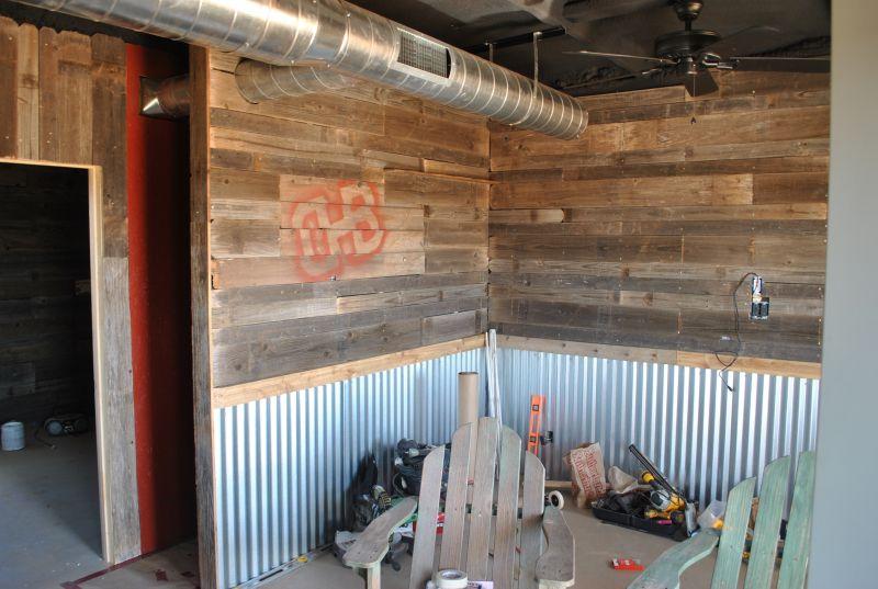 barn wood and metal