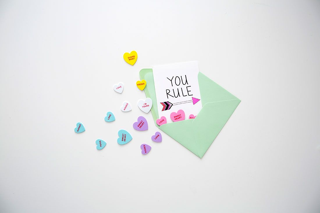 Make Your Own Hand-Lettered Valentines (+ Free Printables!) via Brit + Co