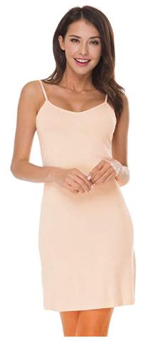 Easeway Women S Full Slip Under Adjustable Spaghetti Strap Cami Mini Dress In 2020 Mini Dress Mini Cami Dress Slip Dress Tshirt