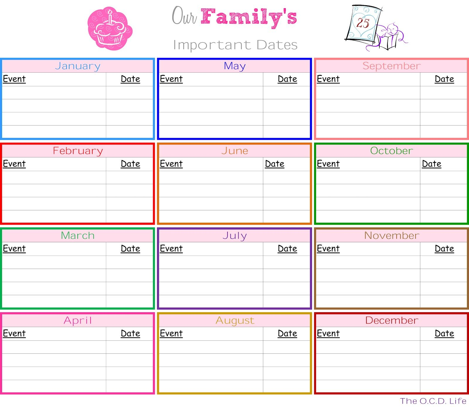 Monthly Planning Printable