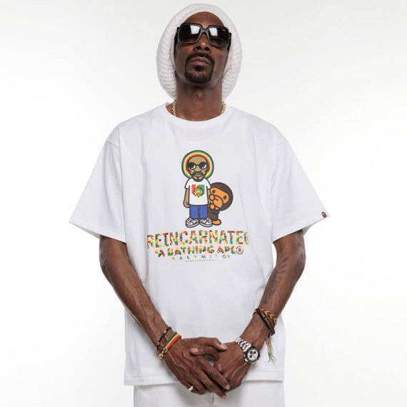 A BATHING APE x Snoop Lion - BAPE Baby Milo T-Shirt Collection ... 3f854baab