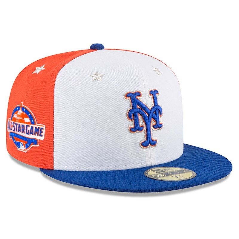New York Mets New Era 2018 MLB All-Star Game On-Field 59FIFTY Fitted Hat –  White Royal e6863682ea21
